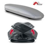 Bagażnik dachowy - box MENABO Mania 580 DUO ABS (srebrny - udźwig 75kg)