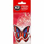 Zapach samochodowy K2 Fresh Wind Duopack zawieszka motyl truskawka K2 V185D