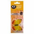 Zapach samochodowy K2 Fresh Wind zawieszka motyl mandarynka K2 V182