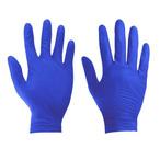 Rękawice nitrylowe bezpudrowe M - 5 par (10 sztuk) - niebieskie IPARTS REK_M10_NITRYL