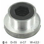 Sprzęgło jednokierunkowe alternatora SKF VKM 03612