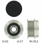 Sprzęgło jednokierunkowe alternatora SKF VKM 03102