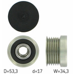 Sprzęgło jednokierunkowe alternatora SKF VKM 03872