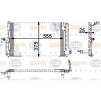 Chłodnica klimatyzacji - skraplacz BEHR HELLA SERVICE 8FC 351 036-021