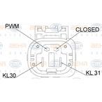 Wentylator chłodnicy silnika BEHR HELLA SERVICE 8EW 351 151-081