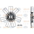 Wentylator chłodnicy silnika BEHR HELLA SERVICE 8MV 376 733-361