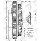 Sprzęgło wiskozowe BERU LK046