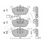 Klocki hamulcowe - komplet METELLI 22-1028-0