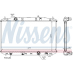 Chłodnica wody NISSENS 68135A