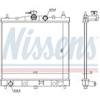 Chłodnica wody NISSENS 68728