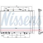 Chłodnica wody NISSENS 69476