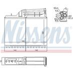 Nagrzewnica ogrzewania kabiny NISSENS 70502