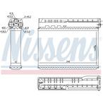 Nagrzewnica ogrzewania kabiny NISSENS 70512