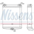 Nagrzewnica ogrzewania kabiny NISSENS 72001