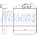 Nagrzewnica ogrzewania kabiny NISSENS 72661