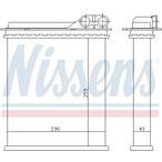 Nagrzewnica ogrzewania kabiny NISSENS 73363
