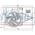 Wentylator chłodnicy silnika NISSENS 85003