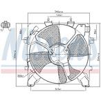 Wentylator kondensatora klimatyzacji NISSENS 85045