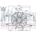 Wentylator chłodnicy silnika NISSENS 85103