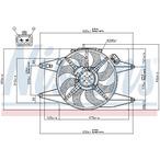 Wentylator chłodnicy silnika NISSENS 85105