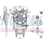 Wentylator chłodnicy silnika NISSENS 85162