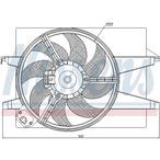 Wentylator chłodnicy silnika NISSENS 85220