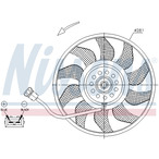 Wentylator chłodnicy silnika NISSENS 85618