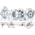 Kompresor klimatyzacji NISSENS 890144