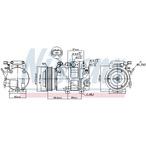 Kompresor klimatyzacji NISSENS 890151