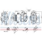 Kompresor klimatyzacji NISSENS 890412