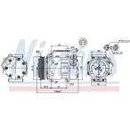 Kompresor klimatyzacji NISSENS 89047