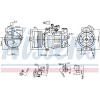Kompresor klimatyzacji NISSENS 890551