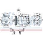 Kompresor klimatyzacji NISSENS 890562