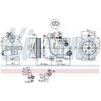 Kompresor klimatyzacji NISSENS 890563