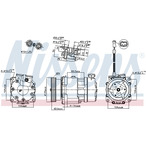 Kompresor klimatyzacji NISSENS 89193