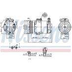 Kompresor klimatyzacji NISSENS 89333