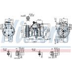 Kompresor klimatyzacji NISSENS 89533