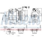 Kompresor klimatyzacji NISSENS 89606