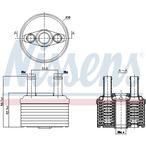 Chłodnica oleju automatycznej przekładni NISSENS 90664
