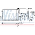 Chłodnica klimatyzacji - skraplacz NISSENS 940317