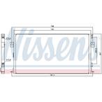 Chłodnica klimatyzacji - skraplacz NISSENS 94267