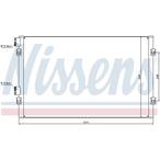 Chłodnica klimatyzacji - skraplacz NISSENS 94555