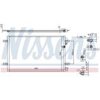 Chłodnica klimatyzacji - skraplacz NISSENS 94695