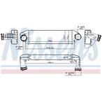 Chłodnica powietrza doładowującego - intercooler NISSENS 96128