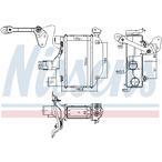 Chłodnica powietrza doładowującego - intercooler NISSENS 96164