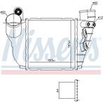 Chłodnica powietrza doładowującego - intercooler NISSENS 96488