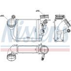 Chłodnica powietrza doładowującego - intercooler NISSENS 96679