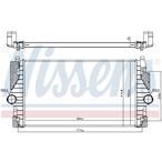 Chłodnica powietrza doładowującego - intercooler NISSENS 96755