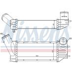Chłodnica powietrza doładowującego - intercooler NISSENS 96790