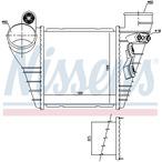 Chłodnica powietrza doładowującego - intercooler NISSENS 96847